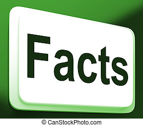 Facts Button Shows True Information And Data - Facts Button...