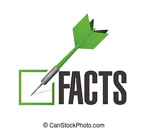 facts dart illustration check mark illustration design over...