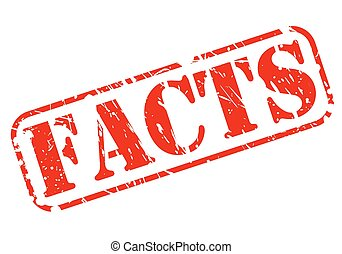 Facts red stamp text on white