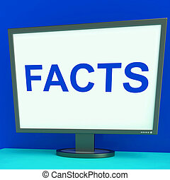 Facts Screen Shows True Information Wisdom And Knowledge
