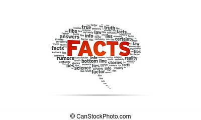 Facts - Spinning Facts Speech Bubble