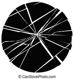 facture, verbrijzelen, barsten, verrotten, oppervlakte, kapot, splinters, illustratie, barst, grungy, texture., element., design.