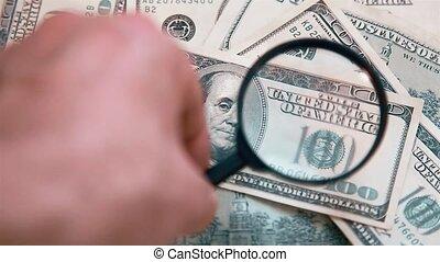 factures, 1920x1080.finance., vérification, hd, hundred-dollar, arrière-plan., authenticité