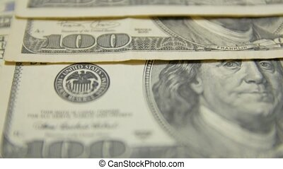 factures, argent, 100, dollar