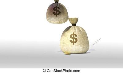 factures, argent, tomber, casquette, dépenses, remise de diplomes, signe, books., prêt, education
