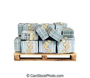 factures, bois, non, palette, dollar, ombre, argent, pile, ...