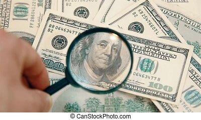 factures, magnifier, loupe, 1920, hd, hundred-dollar, authenticité, chèque