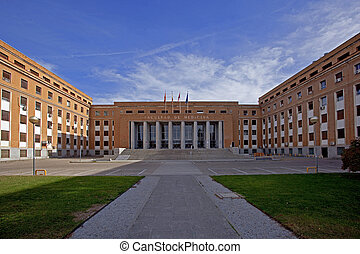 Faculty - Building of medical faculty of the Madrid...