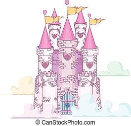 fada, castelo