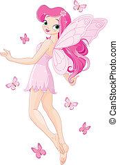 fada, cor-de-rosa, cute