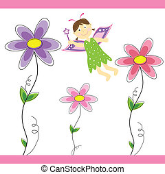 fada, flor
