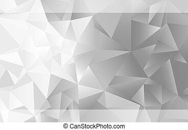 Fade to Grey Triangle Background - Interposing triangle's...