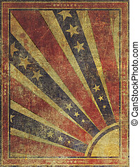 Faded and Worn Grunge American Stars and Stripes Background