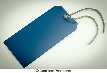 Faded Blue Tag