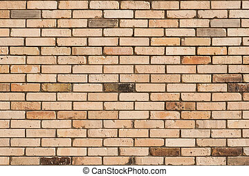 Faded brick wall background. Colored bricks facade.