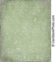Faded grunge green plaster background with frame - Faded...