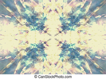 Faded yellow and blue kaleidoscope background