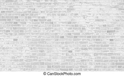 Faded white brick wall background. - Faded white brick wall...