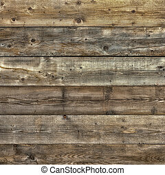 Faded worn pine wood background square format