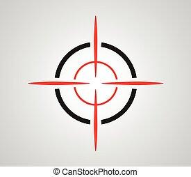 fadenkreuz, reticle, ziel, sucher, grafik