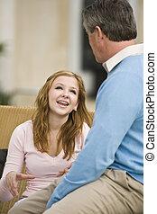 fader, dotter, pratstund