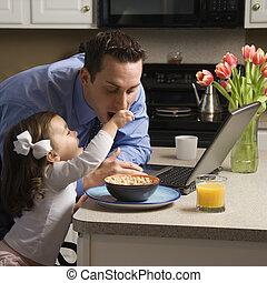 fader, med, daughter.