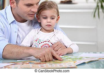 fader, tidskrift, dotter
