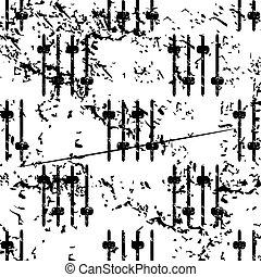 Faders pattern, grunge, monochrome - Faders pattern, grunge,...