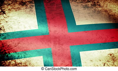 Faeroe Islands Flag Waving, grunge