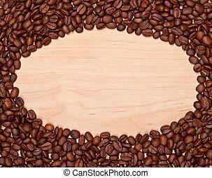 fagioli caffè, cornice
