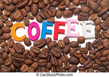 fagioli, caffè, parola, singolo