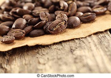 fagioli caffè, pergamena