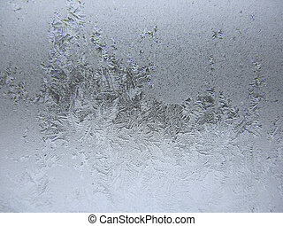 fagyasztott, tél, ablak