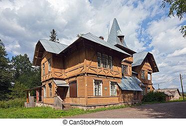 faház, öreg, orosz, falu