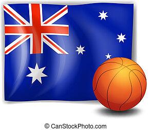 fahne, australia, kugel