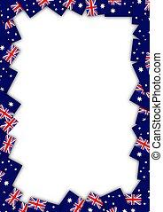 fahne, australia, umrandungen
