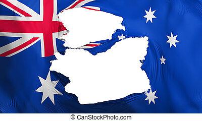 fahne, australia, zerfetzt