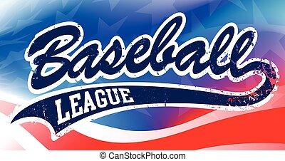 fahne, baseball, amerikanische , hintergrund, drehbuch