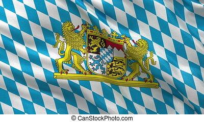 Fahne, Bayern,  seamless, schleife