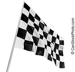 fahne, checkered
