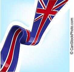 fahne, england, geschenkband
