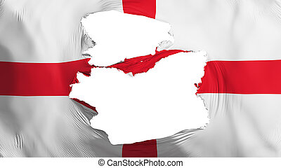 fahne, england, zerfetzt