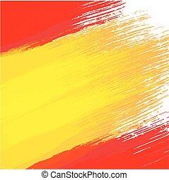 fahne, grunge, farben, hintergrund, spanischer