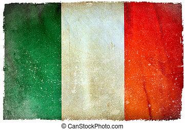 fahne, grunge, irland