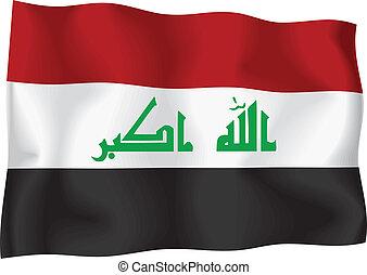 fahne, irak