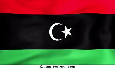 fahne, libyen