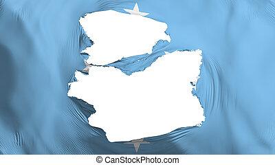 fahne, mikronesien, zerfetzt