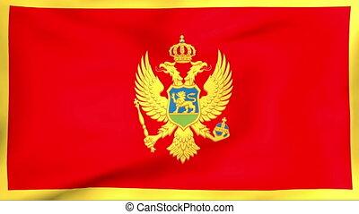 fahne, montenegro