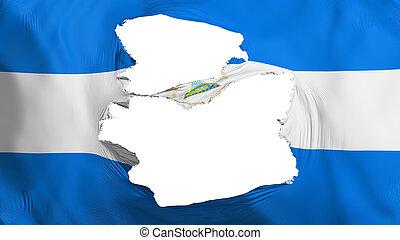 fahne, nicaragua, zerfetzt