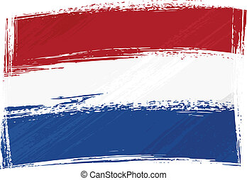 fahne, niederlande, grunge